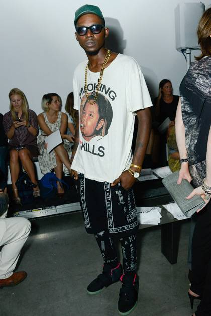 Theophilus London attends the Helmut Lang show during Spring 2013 Mercedes-Benz Fashion Week at on September 7, 2012 in New York City.