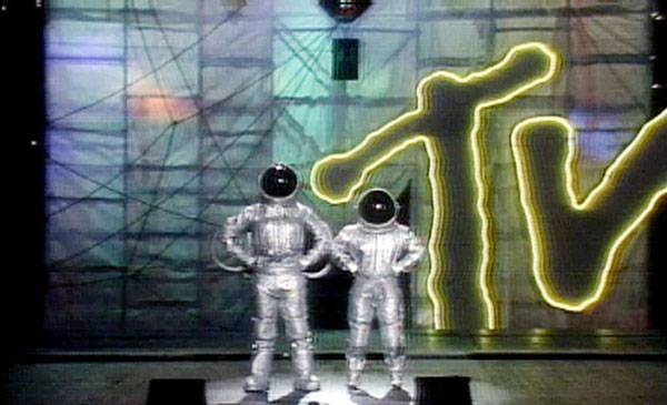 1984 - The Moonmen land at the very first Video Music Awards, held at New York's Radio City Music Hall.