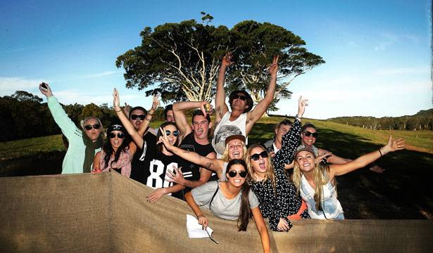 Punters arrive at Splendour in the Grass