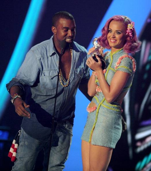2011 MTV VMA 'Best Collaboration' winners Katy Perry and Kanye West.