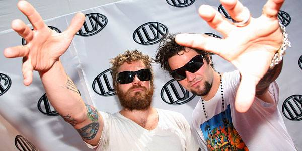 Dunn and Bam Margera on August 10, 2008.