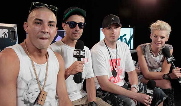 Bliss n Eso @ Big Day Out 2014 with MTV VJ Kate Peck