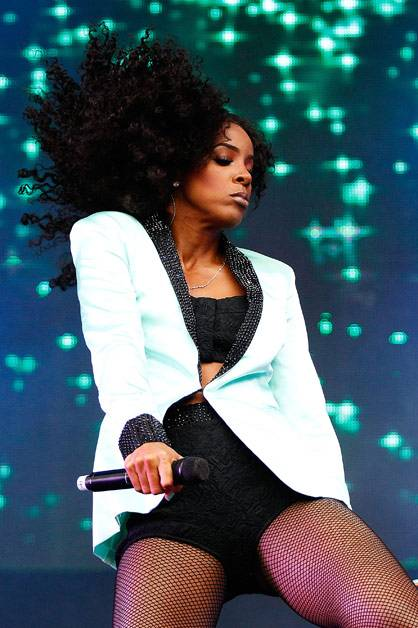 Kelly Rowland performing live on stage at Supafest 2012 in Sydney on 15 April 2012.
