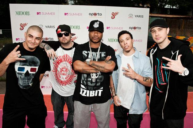 XZIBIT and his crew arrive at MTV Summer 2011.