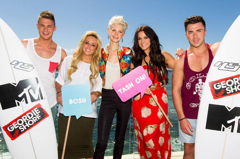 Geordie Shore: Season 6 - Scott, Charlotte, Kate, Vicky and James in Bondi on Tuesday March 5, 2013.