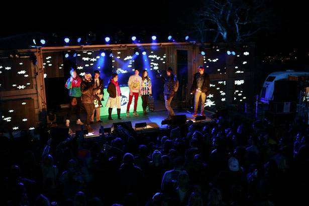 MTV Winter House Party: Bathurst - Kate Peck and the Wrigleys Freshest Look Comp entrants.