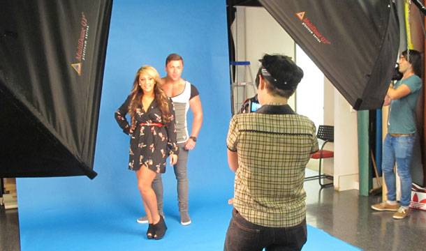 #GEORDIESONTOUR Working it at a photoshoot for MX mag!