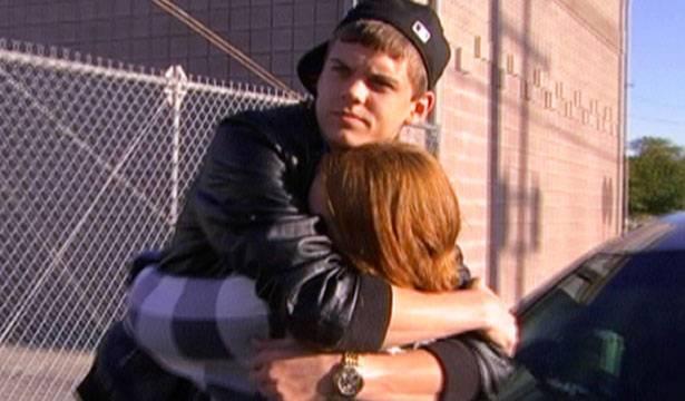 Tyler and Catelynn share a big hug.