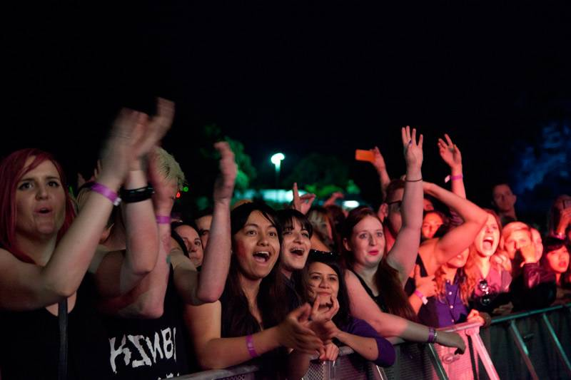 The lucky fans at the front of Robyn's set 'Parklife 2012' in Centennial Park, Sydney on September 30,  2012.