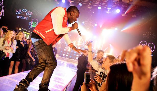 Chiddy performing live onstage at MTV Winter at the Plaza Ballroom in Melbourne, 19 July 2012.