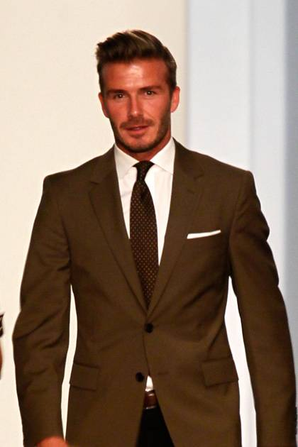 David Beckham attends the Victoria Beckham Spring 2013 presentation during Mercedes-Benz Fashion Week at New York Public Library on September 9, 2012 in New York City.