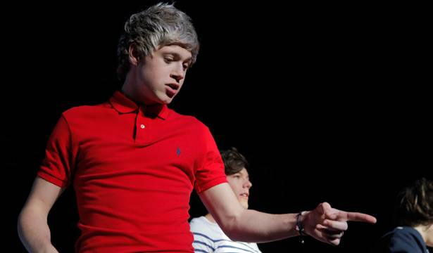 Niall Horan of One Direction performing live in Sydney on April 13, 2012.