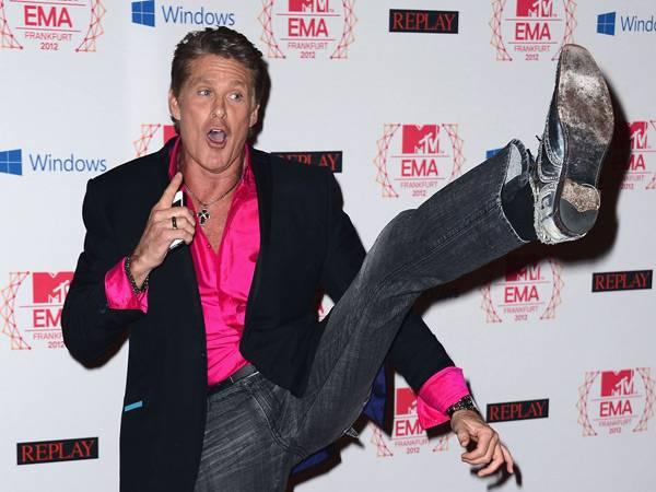 David Hasselhoff @ the '2012 MTV EMA' Red Carpet