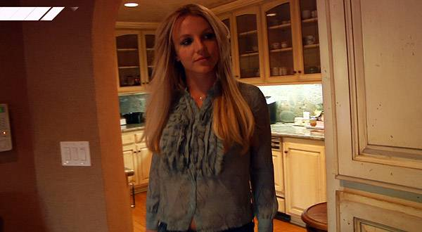 Britney Spears at home in Calabasas, CA.