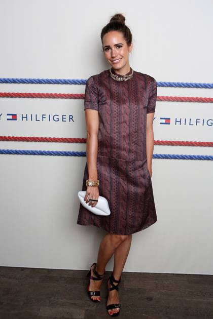 Louise Roe backstage at the Tommy Hilfiger Women's Spring 2013 fashion show during Mercedes-Benz Fashion Week at The Highline on September 9, 2012 in New York City.