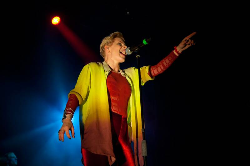 Robyn performing live onstage at 'Parklife 2012' in Centennial Park, Sydney on September 30,  2012.
