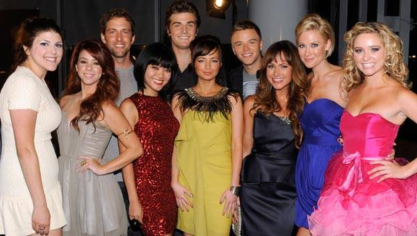 Ashley Rickards and the cast of MTV's 'Awkward.' at the 2011 MTV Video Music Awards.