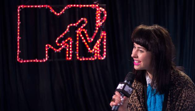 We chat to Kiwi gal Kimbra backstage on day one of 'Splendour in the Grass 2012' at Belongil Fields, Byron Bay - 27 July, 2012.