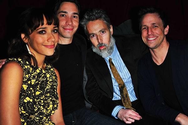 Adam Yauch with Rashida Jones, Justin Long and Seth Meyers in New York in 2011
