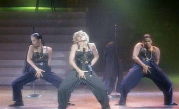 """1989 - Madonna opens the 1989 VMAs with a provocative performance of """"Express Yourself."""