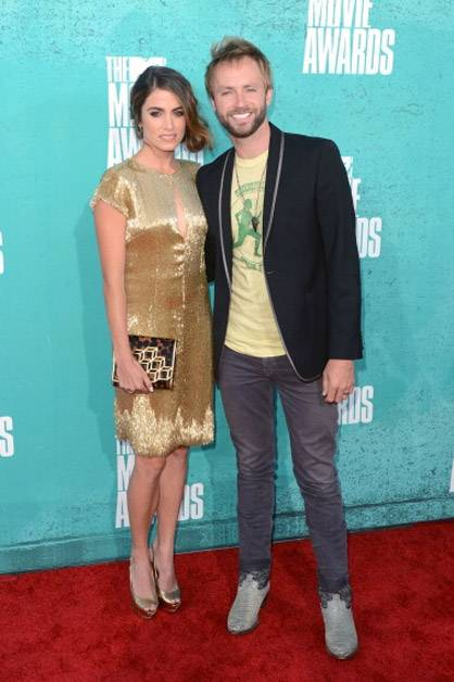 Nikki Reed and Paul McDonald arrive at the 2012 MTV Movie Awards.