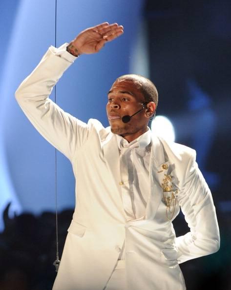 Chris Brown performing at the 2011 MTV VMA.