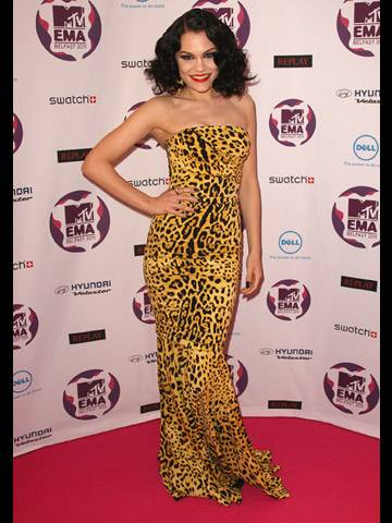 Jessie J arrives at the 2011 MTV EMA.