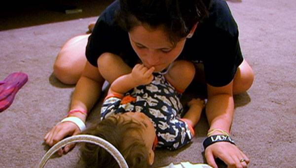 Jenelle and baby Jace.