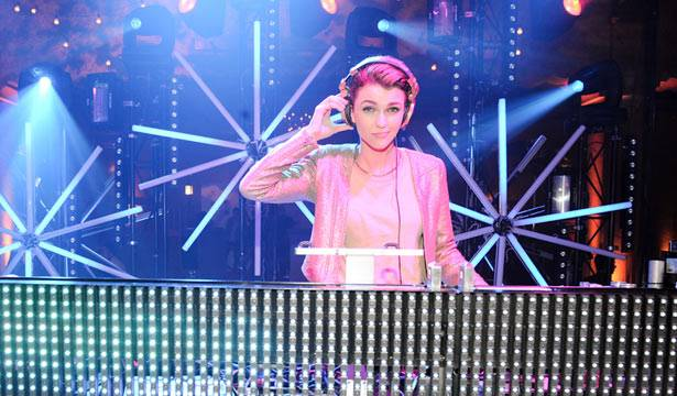Ruby Rose on the decks at MTV Winter at the Plaza Ballroom in Melbourne, 19 July 2012.