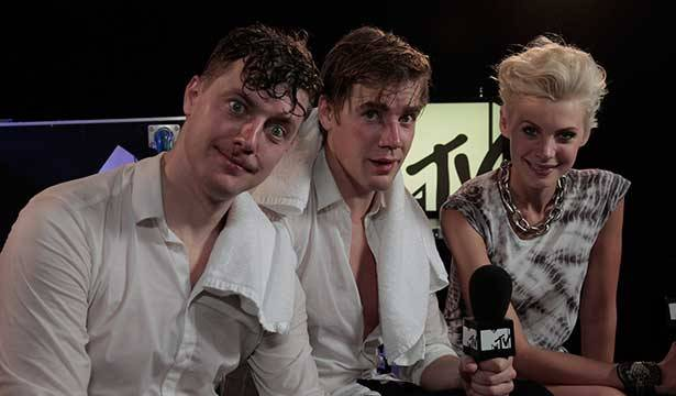 The Hives @ Big Day Out 2014 with MTV VJ Kate Peck