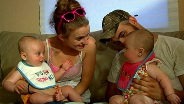 Leah and Corey welcome the twins to their new home!