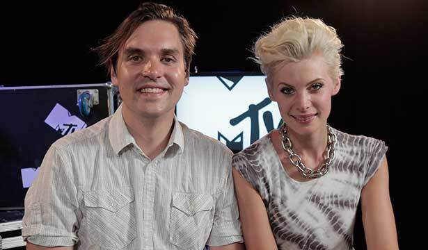 Arcade Fire @ Big Day Out 2014 with MTV VJ Kate Peck