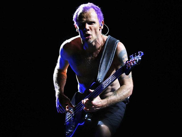 Flea from Red Hot Chili Peppers at the Big Day Out 2013 in Sydney