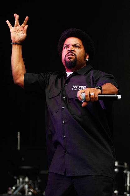 Ice Cube performing live on stage at Supafest 2012 in Sydney on 15 April 2012.