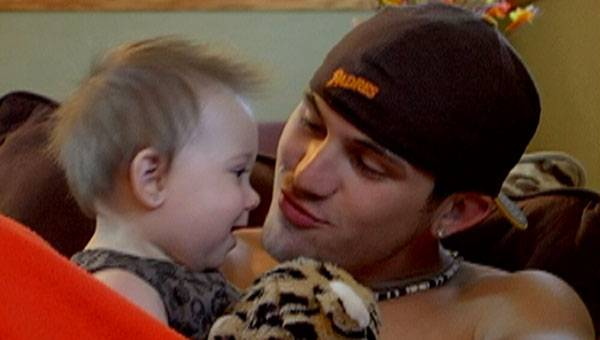 Aubree spends some quality time with her dad, Adam.