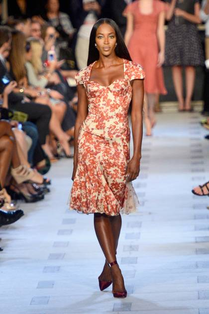 Naomi Campbelll walks the runway at the Zac Posen Spring 2013 fashion show during Mercedes-Benz Fashion Week on September 9, 2012 in New York City.