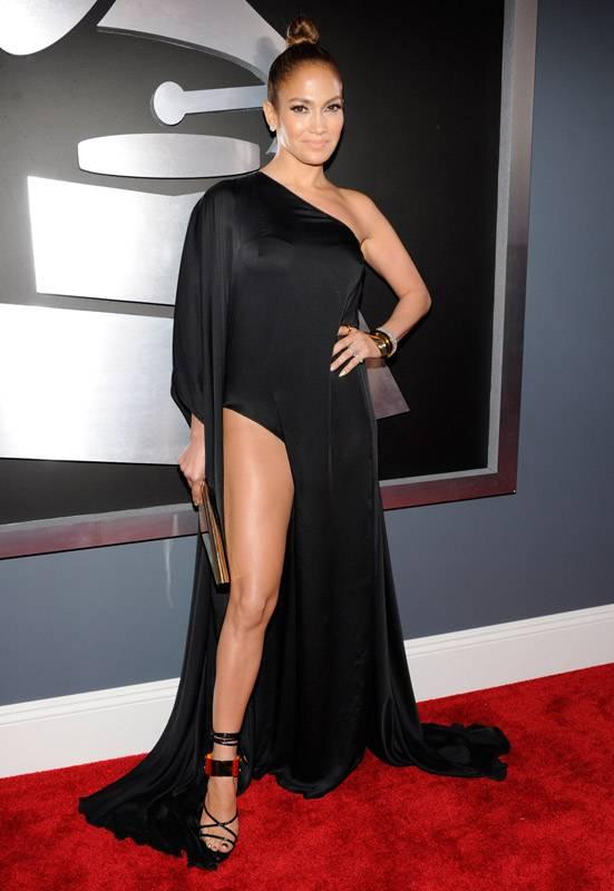 Jennifer Lopez on the 2013 Grammy Awards red carpet.