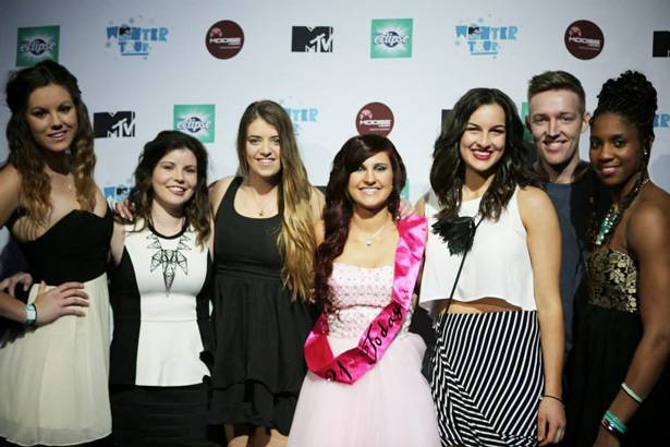 MTV Winter House Party: Adelaide - Winner Demi Verneer and friends.