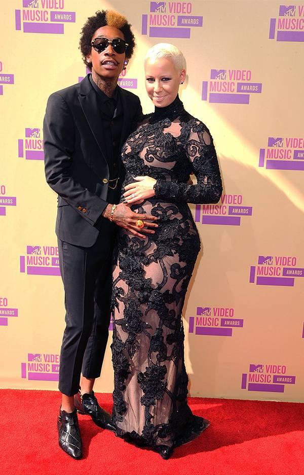 Wiz Khalifa and Amber Rose at the 2012 VMAs.