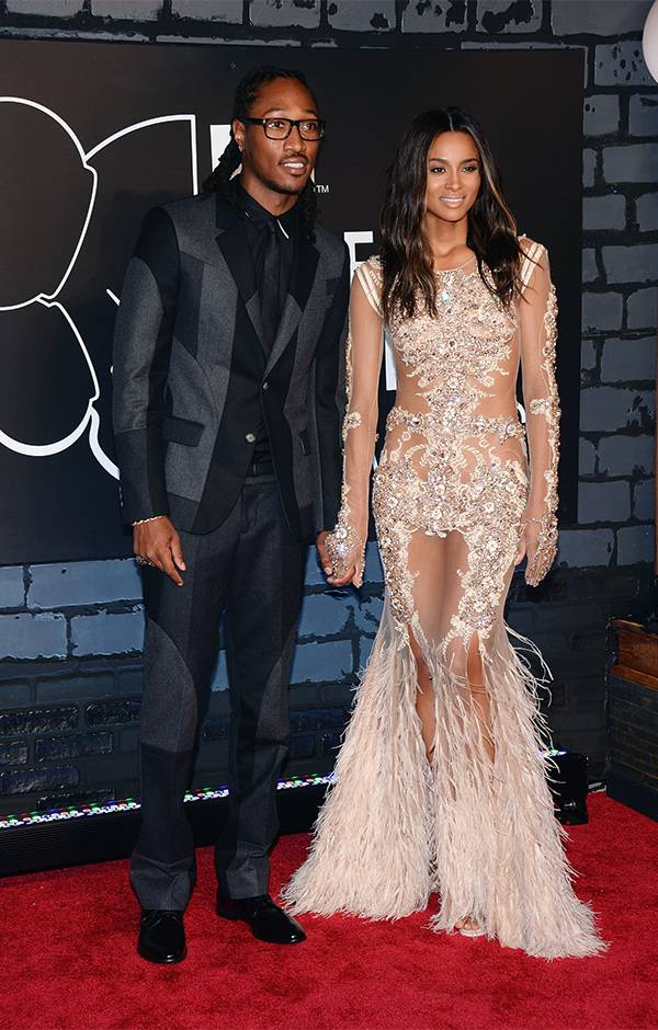 Future and Ciara held hands on the 2013 VMAs red carpet at the Barclays Center in Brooklyn, NY.