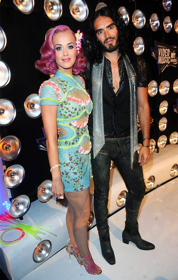 Katy Perry and Russell Brand at the 2011 VMAs.