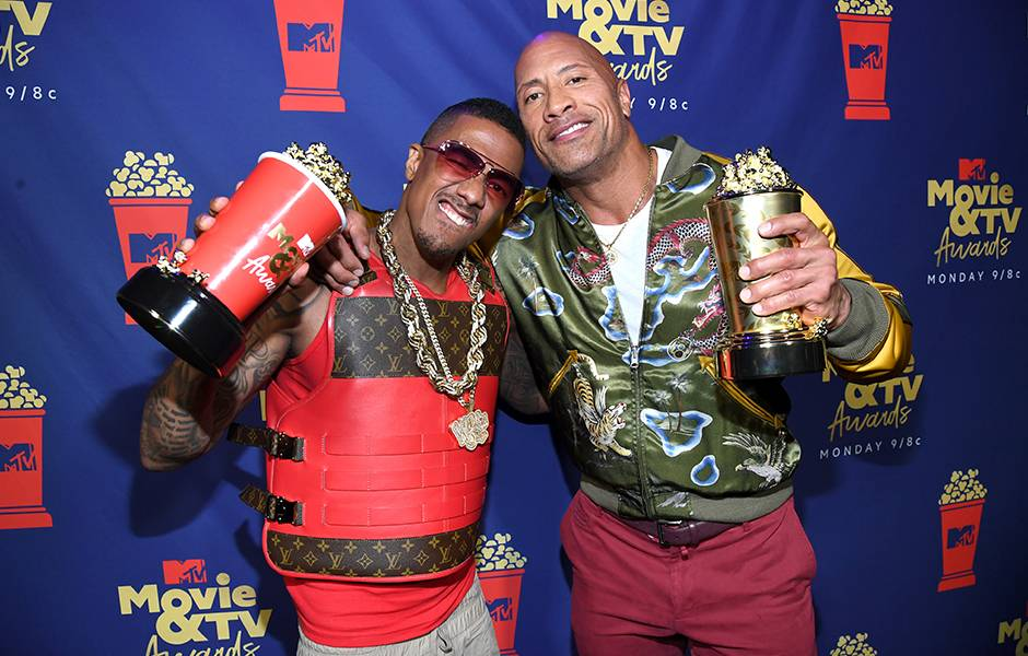 Movie & TV Awards 2019 | Behind The Scenes | The Rock and Nick Cannon | 940x600