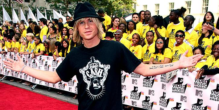 After O-Town, Ashley Parker Angel documented his quest to become a solo artist on a show called 'There And Back.' Here he is back at the 2006 MTV Video Music Awards.
