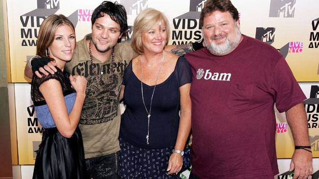 'Viva La Bam!' Bam Margera and his famous family get together for a portrait outside of the 2006 MTV Video Music Awards.