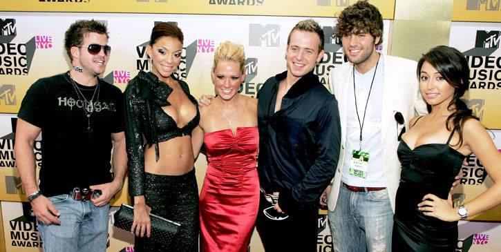 Though they don't look particularly real, John, Janelle, Paula, Tyler, Zach and Svetlana are the stars of 'Real World: Key West.' At the 2006 MTV Video Music Awards.