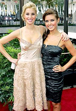 'The City' star Whitney Port and 'The Hills' star Audrina Patridge hold each other close on the red carpet at the 2006 MTV Video Music Awards.