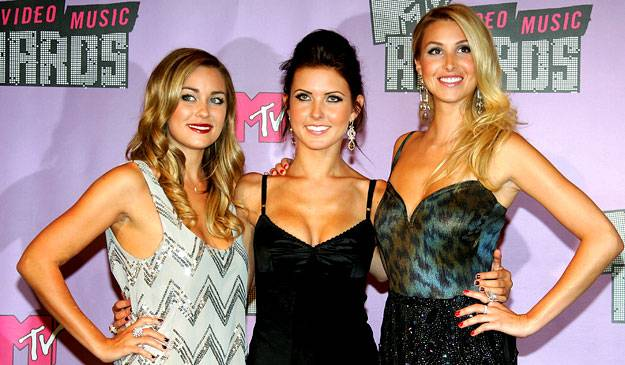 Lovely ladies Lauren Conrad, Audrina Patridge and Whitney Port represent 'The Hills' and 'The City' at the 2007 MTV Video Music Awards.