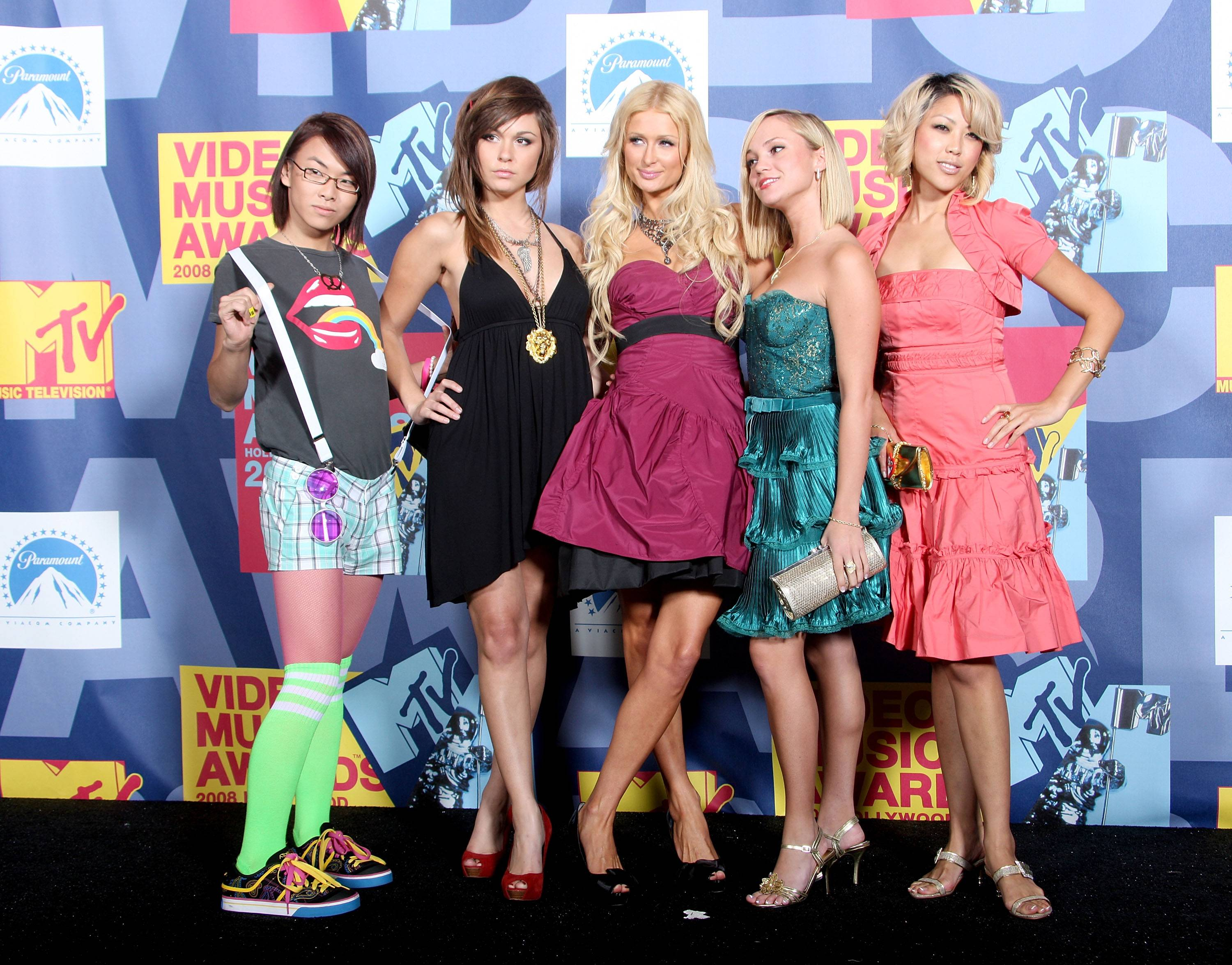 Paris Hilton and a few of her new BFFs at the 2008 MTV Video Music Awards in Hollywood.