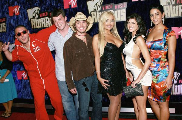 Isaac, Dunbar, Cohutta, Shauvon, KellyAnne, Parisa, the cast of 'Real World: Sydney,' reunite on the red carpet at the 2007 MTV Video Music Awards.