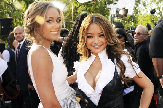 Lauren Conrad of 'The Hills' may not be trying to get 'A Shot at Love with Tila Tequila' but the two sure do look good together at the 2008 MTV Video Music Awards.